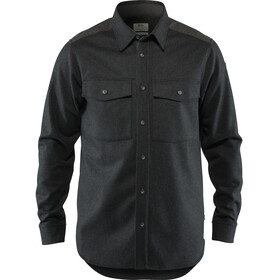 Fjällräven Övik Camisa Manga Larga Re-Wool Hombre, dark grey